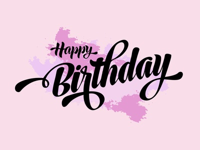 Happy Birthday vector design happy birthday birthday letter invtation card lettering illustration
