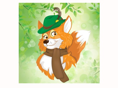 Fox cartoon character cartoon fox cute graphicdesign animal design character vector illustration