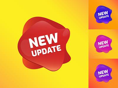 NEW update web design sticker design vector design illustration sticker