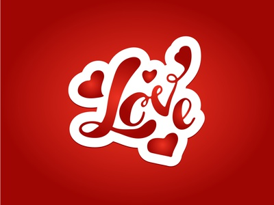 love badge love sticker valentine day symbol postcard illustrator logo inspiration vector design illustration typography lettering