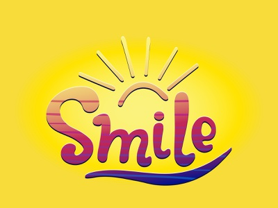 smile with san smile illustrator cartoon postcard typography lettering vector design illustration
