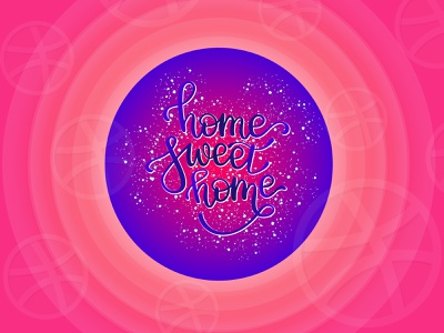 home sweet home postcard typography icon illustrator lettering illustration vector design invite inscription home sweet home
