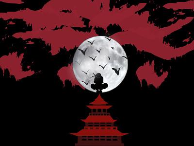 Itachi-Naruto-Anime naruto itchi anime illustrator illustration design