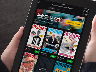 Magazine App Grid In Portrait ios ipad app magazines magazine reading grid icons