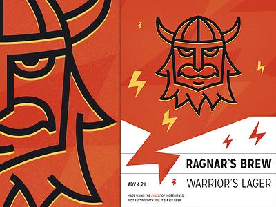 Warriors Lager 2 beer label illustration illustrations barbaric viking lager