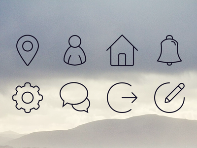 More icons icons sketch home user notifications settings location messages logout compose