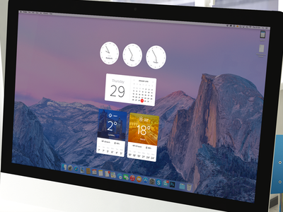 OS X Dashboard Widgets osx dashboard widgets weather calendar clock