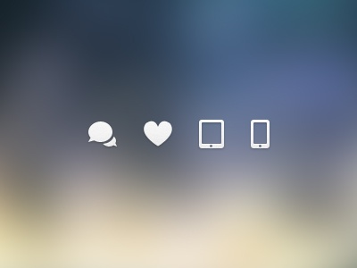 Dribbble op icons