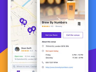 Beerhop – London's best beer places in your pocket location map beer app iphone ios