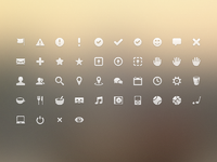 Dribbble icons continued large