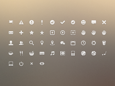 Dribbble icons continued