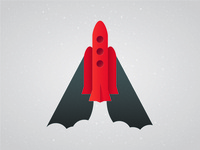 Simple Rocketship illustration