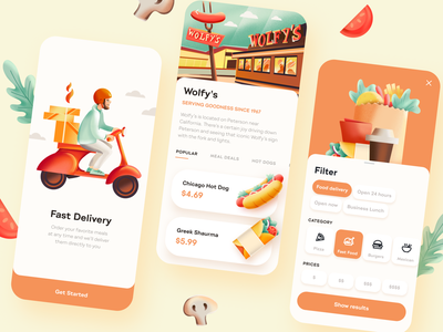 Food Delivery App food mobile app ux ui design