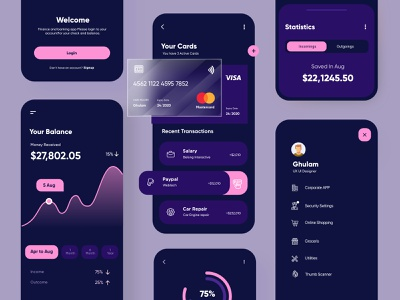 Banking and Finance Mobile App finance mobile app ux ui design
