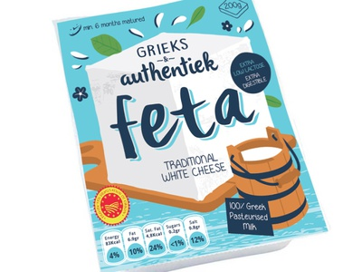 Feta cheese package design branding design