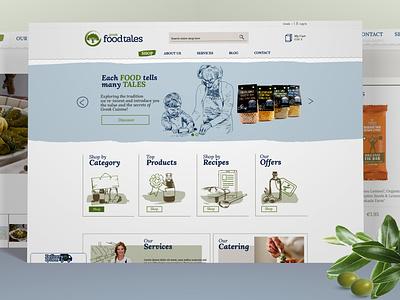 Web shop design web illustration icon branding design