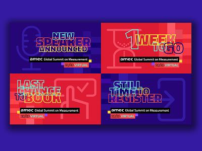 Summit social media visuals graphic design branding vector web design