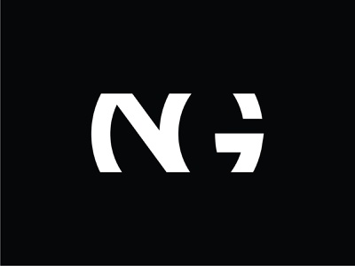 NG initials logo branding typography vector design