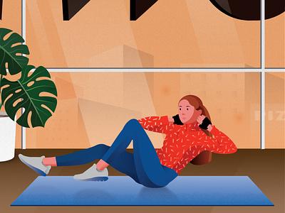 Exercising graphic design illustration