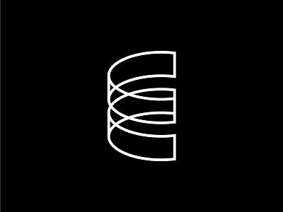 E Logomark vector monogram emblem icon design branding logomark mark logo graphic design