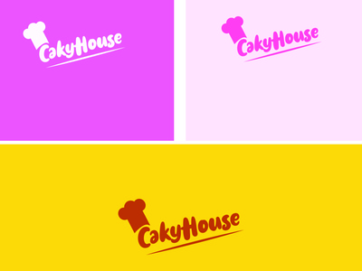 cakyhouse typography flat minimal illustrator icon vector branding logo illustration design