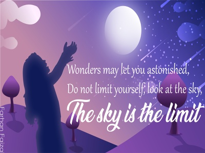 Sky is the Limit scenery arts digital art concept art vector illustration minimal creative modern design