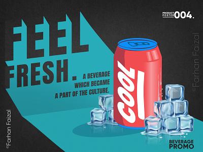 COOL | Beverage Promo | Illustrated Advertisement illustrator beverage design advertisement commercial art trending vector illustration creative coperate modern design