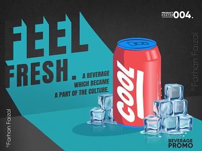 COOL | Beverage Promo | Illustrated Advertisement trending commercial art advertisement beverage design vector illustration creative coperate modern design