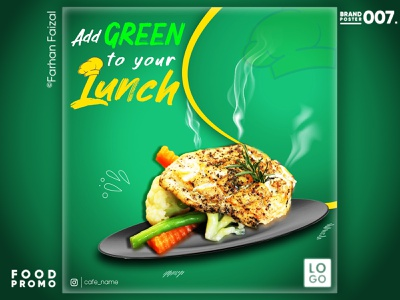 Healthy Lunch | Food Promo poster design advertising food social media creative modern design