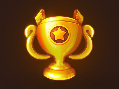 Cup glory win star icon game cup
