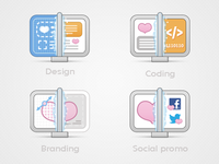 4 website icons