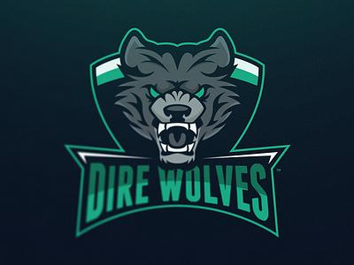 Dire Wolves Mascot Logo esports sport illustration wolves dire logo mascot