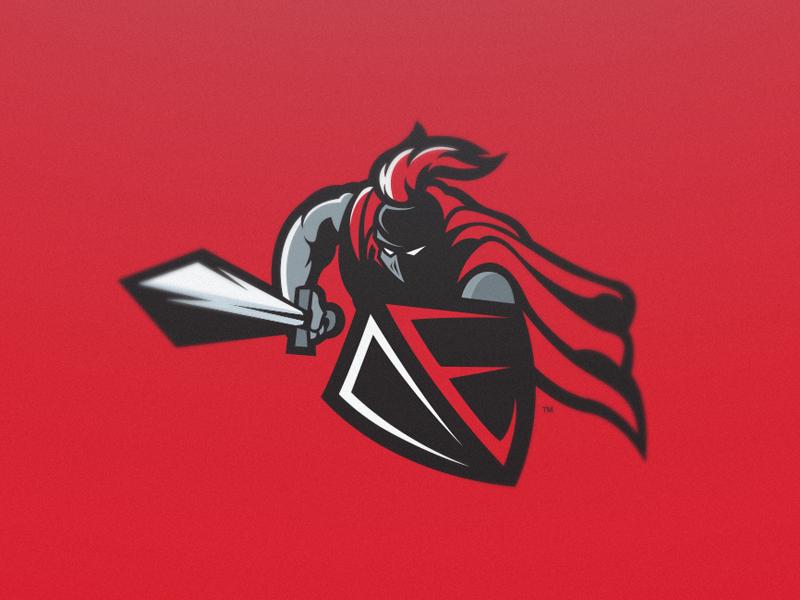 Defiant eSports knight red gaming esports sport illustration mascot logo defiant