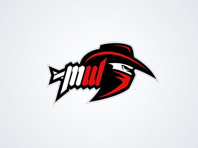 Most Wanted - Mascot Logo Design nfl sport cowboy mw creative grenade gaming esports red bandit logo mascot most wanted