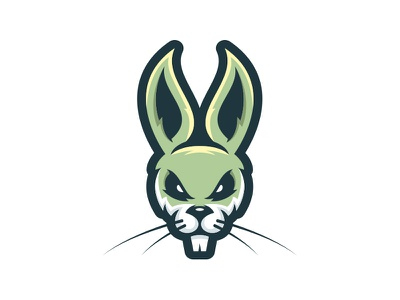 Happy Easter Mascot holiday egg pastel green creative grenade esports mascot rabbit bunny easter