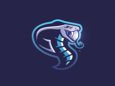 CSGO: Gemini Mascot Logo gaming csgo gem purple blue logo esports mascot snake cobra