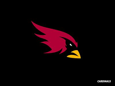 Arizona Cardinals (4 of 32) bird red minimal mascot nfl redesign logo cardinals