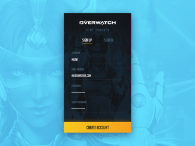 Daily UI 001 - Sign Up app gaming esports ui arcade overwatch sign up 001 daily ui