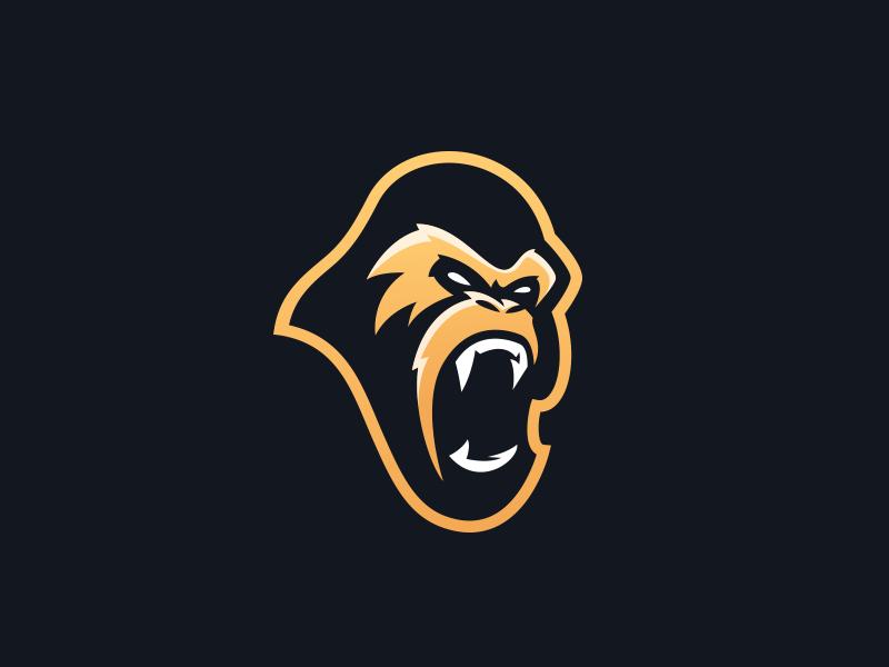 Gorilla Mascot Logo Esports Team By Travis Howell Dribbble