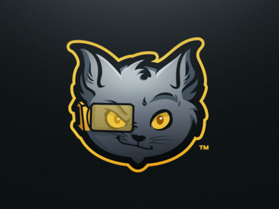 Laser Kittenz - eSport Mascot Logo Design video game esports gaming cat sport logo mascot laser kitten