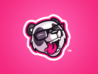 The Unsteady - Panda Mascot Logo