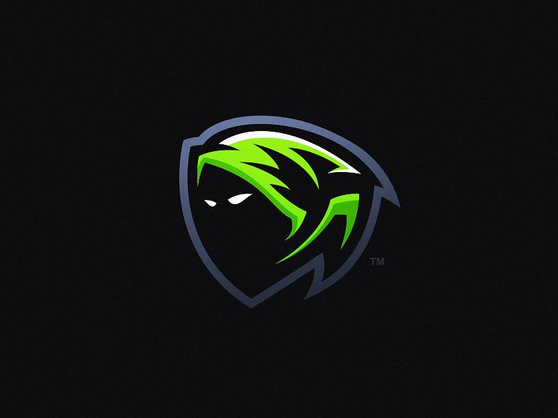 Reaper video game hood ghoul dark green gaming esports mascot sports logo reaper grim