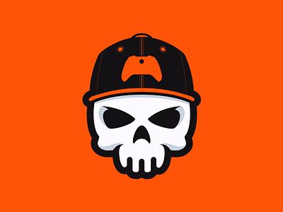 Console or Die gamer youtube esports orange xbox gaming mascot logo hat snapback skull