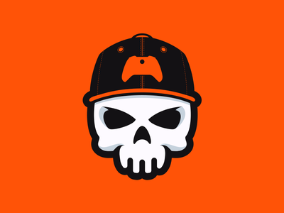 Console or Die gamer youtube esports orange xbox gaming mascot logo hat snapback skull