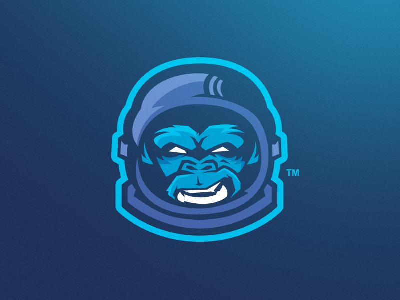 Space Monkey sport astronaut space monkey logo mascot