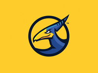 Digital Dactyl minimal circle esports games gaming dinosaur gold bird yellow mascot pterodactyl teradactyl