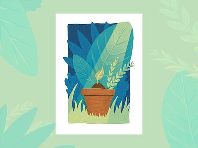Sprout art print graphic design digital art digital illustration procreate nature study illustration design