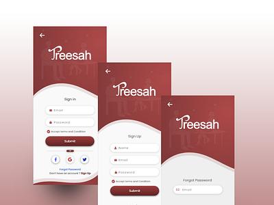 Login , Register, Forget Password Screen Design illustration animation app web design ux