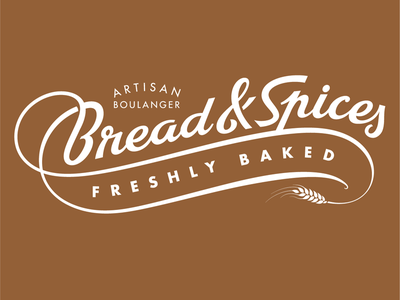 Bread & Spices bakery boulangerie logo type lettering typography