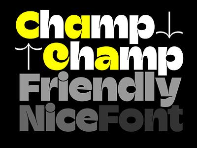 Champ Typeface champ typeverything typeface font